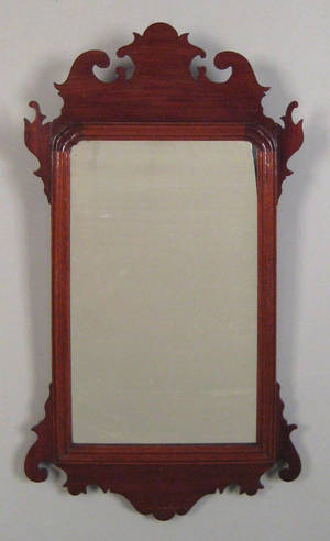 Chippendale carved mahogany wall mirror 18th c