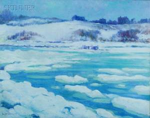 Dwight Blaney American 18651944 Across the Ice