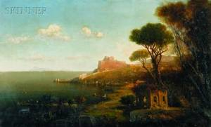George Loring Brown American 18141889 View of the Italian Coast