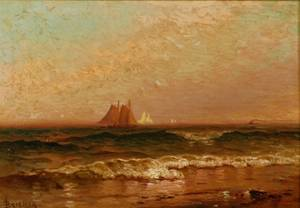 Alfred Thompson Bricher American 18371908 Coastal View with Ships in the Distance