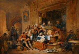 Attributed to Sir David Wilkie British 17851841 Interior