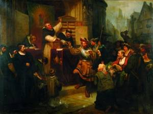 Karl Charles Schlesinger SwissGerman 18251893 Martin Luther and the Indulgences