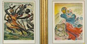 David Alfaro Siqueiros Mexican 18961974 Lot of Two Images