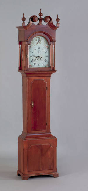 Chester County Pennsylvania Chippendale cherry tall case clock ca 1800