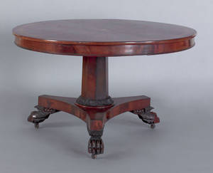 Philadelphia classical mahogany center table ca 1830