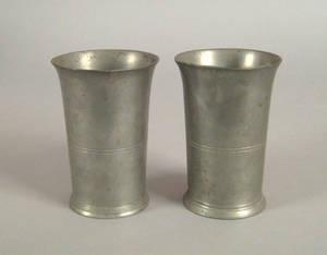 New York pewter beaker ca 1835