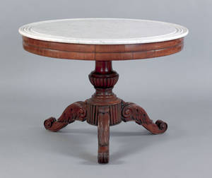 Baltimore classical mahogany center table ca 1830
