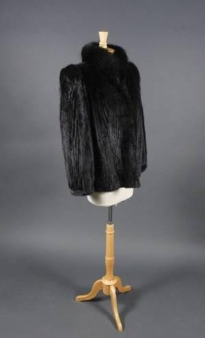 Saga Mink  Fox Black Ladies Fur Coat or Jacket
