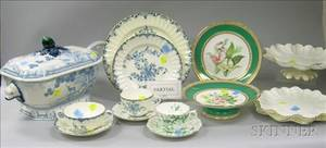 Four English Partial Tableware Sets and a Royal Doulton KangHe Pattern Covered Soup Tureen with Ladle