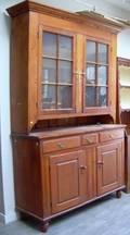 Country Glazed Pine Stepback Cupboard