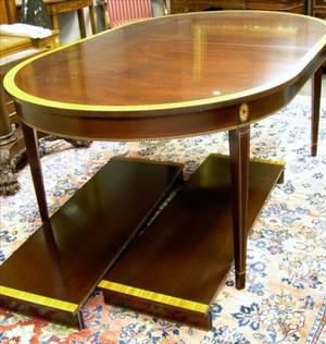 Stickley Federalstyle Inlaid Mahogany and Mahogany Veneer Dining Table