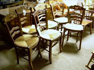 Set of Six French Provincial Beechwood Side Chairs