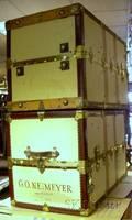 Pair of Brassmounted Canvasclad Steamer Trunks