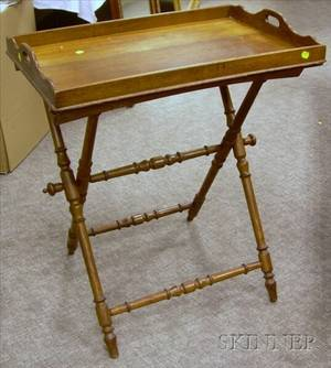 Georgianstyle Oak Butlers Tray on Stand