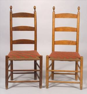 Two Shaker Cherry Side Chairs