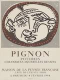 Attributed to Picasso Spanish 18811973 Pignon Poteries Ceramiques Aquareles Dessins Maison de la Pens