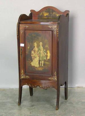 Depression era mahogany music cabinet