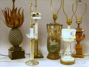Six Assorted Decorative Table Lamp Bases