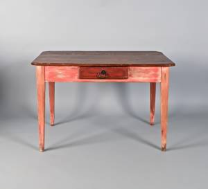 Southern one drawer tavern table