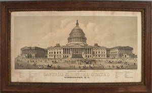 Lithograph of the Capitol Building
