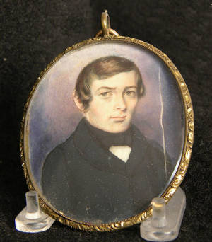 Miniature watercolor on ivory portrait of a gentleman
