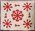 Red and white appliqu quilt