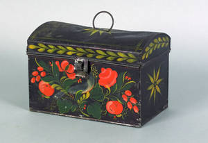 Pennsylvania toleware document box 19th c