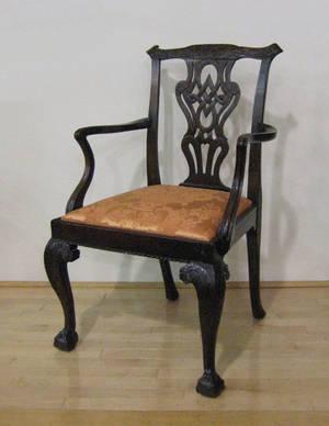 George III mahogany armchair ca 1765