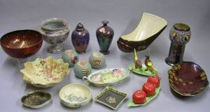 Seventeen Pieces of Assorted Carlton Ware and Related Decorated Ceramics