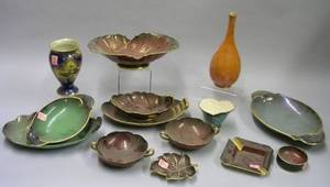 Fourteen Pieces of Assorted Carlton Ware Lustre Glazed and Decorated Table Items