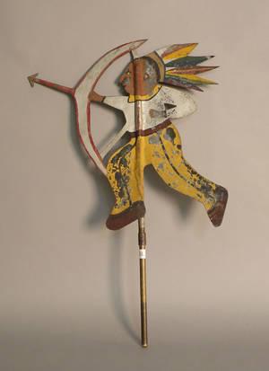 Painted zinc Indian weathervane