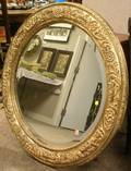 Italianstyle Silver Gilt Gesso Mirror with Beveled Glass