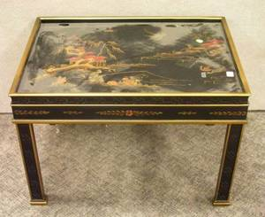Heritage Chinese Chippendale Lacquer Low Table