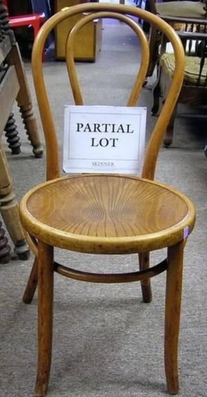 Set of Twelve Kohn  Mundus Bentwood Side Chairs with Molded Wood Seats