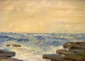 Oil on Canvas Marine Scene