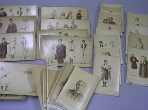 Collection of Thirtyone Early 20th Century Theatrical Photographic and Eight Portrait Cabinet Cards