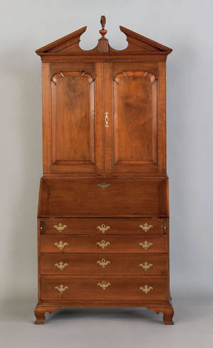 Pennsylvania Chippendale walnut secretary desk and bookcase ca 1765