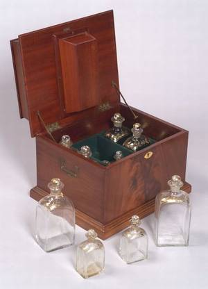 English Regencystyle Mahogany Cordial Box