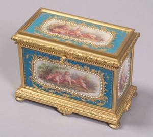 Sevres Porcelain and Gilt Bronze Mounted Jewel Box