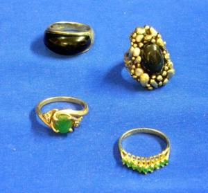 Four Assorted Gold Rings