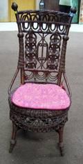 Victorian Fancy Wicker Side Chair