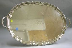 Tiffany  Co Silver Plated Piecrust Serving Tray