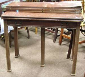 Chinese Chippendalestyle Carved Mahogany and Mahogany Veneer Extension Games Table