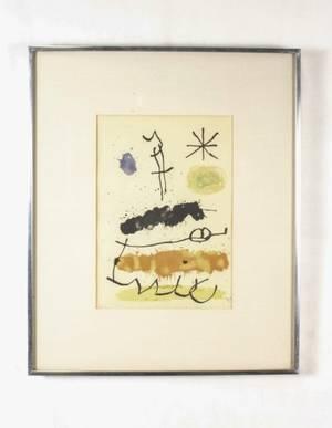 J Miro Plate No X Obra Inedita Recent 1964