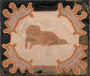 American hooked rug ca 1900