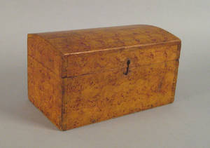 New England painted pine dome lid box ca 1820