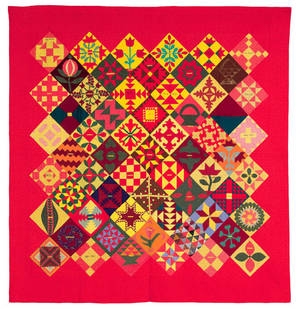Lancaster County Pennsylvania friendship sampler quilt late 19th c