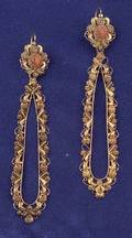 Antique 18kt Gold and Coral Earpendants