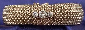 Ladys 14kt Gold and Diamond Covered Wristwatch