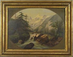 Hudson river oil on canvas landscape